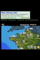 Screenshot of Météo France