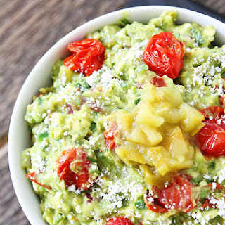 Green Chile and Roasted Tomato Guacamole