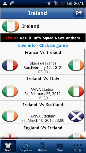 【免費運動App】Six Nations LIVE - Ireland-APP點子