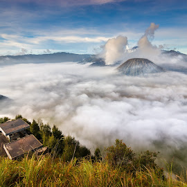 Blue warm by Yossy Ryananta - Landscapes Travel ( hill, mountain, cloud, morning, bromo )