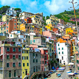Cinque Terre by Mihai Popa - City,  Street & Park  Street Scenes ( cinque terre, italy )