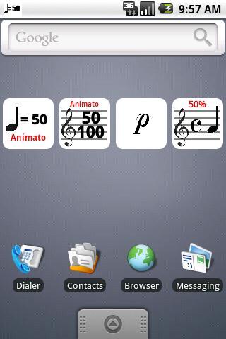 Musical Battery Widget