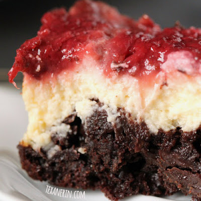 100% Whole Grain Strawberry Cheesecake Brownies