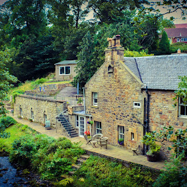 Mill House at Currie, Water of Leith, Edinburgh by Lyndsay Hepburn - Buildings & Architecture Homes ( oldstonehouses, convertertedmillhomes, edinburghmillhouse, edinburghhistoricbuildings, stonehouses )