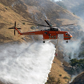 Wildfire Copter by Rick Roesner - News & Events Disasters