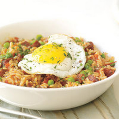 Sunny-Side Sausage Fried Rice