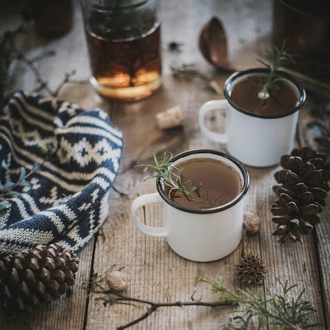 Hot Buttered Rosemary + Fig Bourbon Cider by Beth Kirby