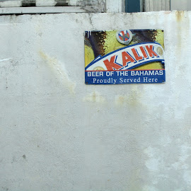 by Timothy Hatch - Food & Drink Alcohol & Drinks ( signs, beer, street sceene, graphics, bahamas )
