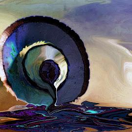 Blue Pencil by Amanda Coertze - Digital Art Abstract ( pencil, blue, art, object )