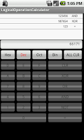 Screenshot of Logical operation calculator