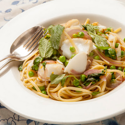 Linguine with Cod, Fresh Peas & Spring Herbs