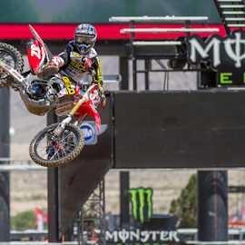 Justin Bogle by Josh Rud - Sports & Fitness Motorsports ( honda, motocross, racing, bogle, supercross, whip, vegas )