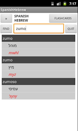 Spanish Hebrew Dictionary