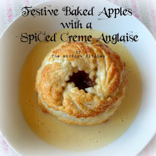 *Festive Apple Dumplings with a Spiced Creme Anglaise*