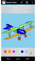 Screenshot of Aircraft Planes Coloring Page