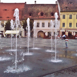 Sibiu by Ciprian Apetrei - City,  Street & Park  Street Scenes