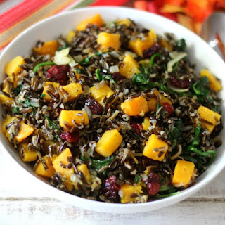 Brown & Wild Rice Dish With Butternut Squash, Spinach And Figs Recipes ...