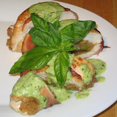 Stuffed Lemon Chicken With Basil Sauce