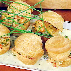 Mini Crawfish Profiteroles with Citrus Butter Sauce