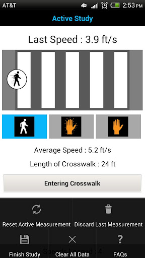 Pedestrian Speed Study