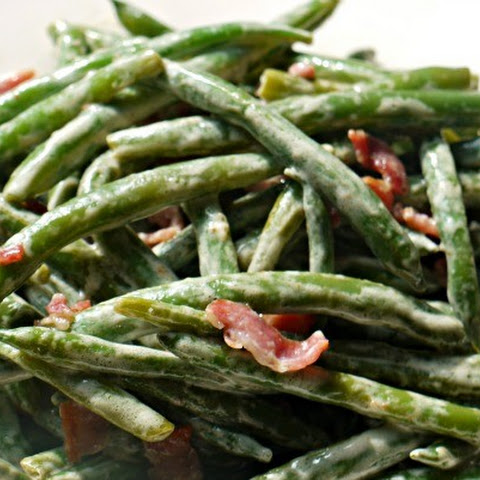 Bacon Ranch Sauteed Green Beans