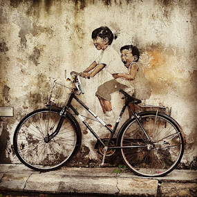 PenangMural by Kokien Photography - Transportation Bicycles ( littlechildrenonabicycle )