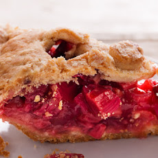 Strawberry-Rhubarb Pie with Sour Cream Crust Recipe