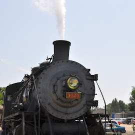 Just a little steam by Janice Burnett - Transportation Trains ( scenic train, nostalgia, scenic steam train ride, steam train. steam engine )