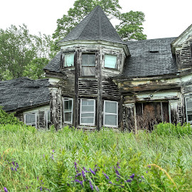 Moved Out by Sharon Horn - Buildings & Architecture Decaying & Abandoned ( abandoned home, maine, decaying house, house, abandoned house, decay, abandoned,  )