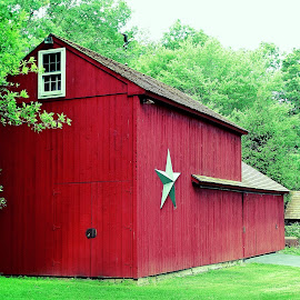Little Red Barn by Sue Delia - Buildings & Architecture Other Exteriors ( pump house, red, barn,  )