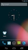 Screenshot of Alarms shortcut