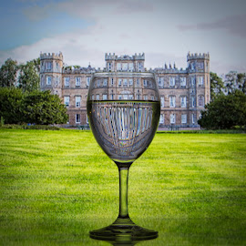 Castles and Wine by Kim Wilhite - Artistic Objects Glass ( wedderburn, wine glass, castle )