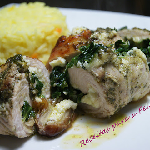 Spinach, Ricotta, and Dates Wrapped in Turkey Cutlets