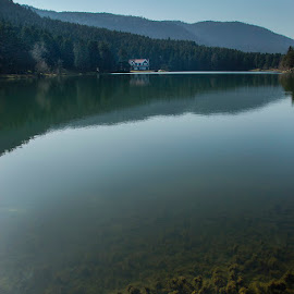Deep Lake by Mustafa Çetinkaya - Landscapes Travel ( turkey bolu lake deep under mirror )