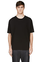3.1 Phillip Lim Black Dropped Shoulders T_shirt