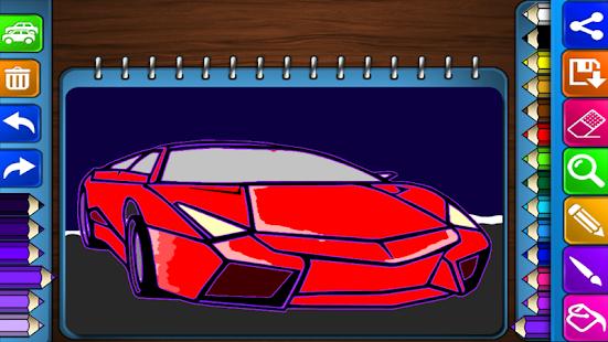 Игра для раскраски автомобили