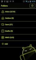 Screenshot of GOSMS Theme - SulphurYellow