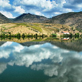 Douro Valley by Antonio Amen - Landscapes Mountains & Hills ( clouds, douro valley, portugal. world heritage patrimony, port wine region, river )