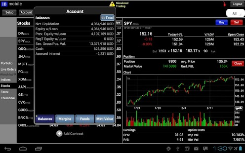 Interactive broker android app