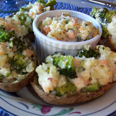 Broccoli and Shrimp-Stuffed Potatoes