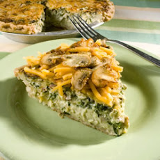 Belle's Spinach and Mushroom Quiche