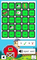 Screenshot of Sight Word Bingo