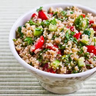 Quinoa Tabbouleh Salad with Parsley and Mint