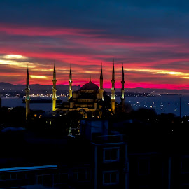 Sunrise in Istanbul by Farrah-Diba Sing - City,  Street & Park  Skylines ( sunrise, travel, turkey, istanbul, travel photography,  )