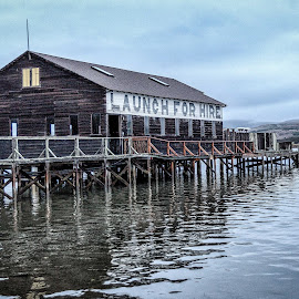 Launch for Hire by Lou Plummer - Buildings & Architecture Bridges & Suspended Structures ( california, tomales bay,  )
