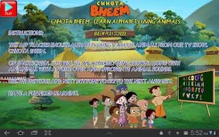 Screenshot of Animal Alphabets with Bheem