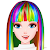 Rainbow Hair Style Hairdresser file APK Free for PC, smart TV Download