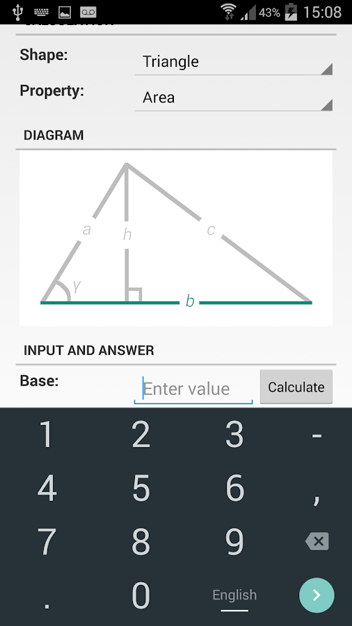 Shape Calculator Screenshot 1