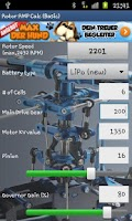 Screenshot of Heli Rotor RPM Calc (Basic)