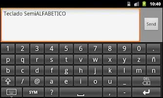 Screenshot of Teclado rápido Semi ALFABÉTICO